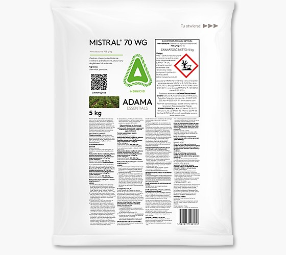 Mistral 70 WG środek chwastobójczy, herbicyd do stosowania w uprawie ziemniaka i pomidora. Agrosimex.