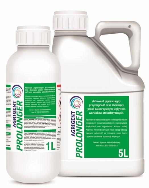 Poprawia zwilżenie i pokrycie roślin cieczą roboczą, zapewnia odporność na zmywanie przez deszcz i powolne uwalnianie substancji aktywnych. agrosimex, adiuwant, PROLONGER