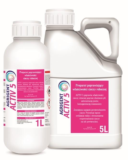 Activ 5 adiuwant, poprawia skuteczność pestycydów i nawozów. AGROSIMEX