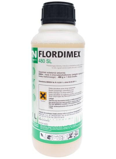 Flordimex 480 SL jest środkiem z grupy regulatorów wzrostu i rozwoju roślin.Przeznaczony jest do przyspieszenia dojrzewania pomidorów gruntowych, ułatwienia mechanicznego zbioru wiśni, przyspieszenia zbioru i poprawy wybarwienia jabłek. Agrosimex