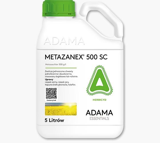 Metazanex 500 SC, środek chwastobójczy, herbicyd, zwalczanie chwastów w uprawach rzepaku ozimego, rzepaku jarego, kapusty białej, kalafiora. AGROSIMEX
