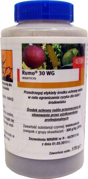 rumo 30 wg środek owadobójczy, insektycyd, stosowany do zwalczania larw szkodników. Przeznaczony dla: sadownictwa, warzywnictwa, rolnictwa.