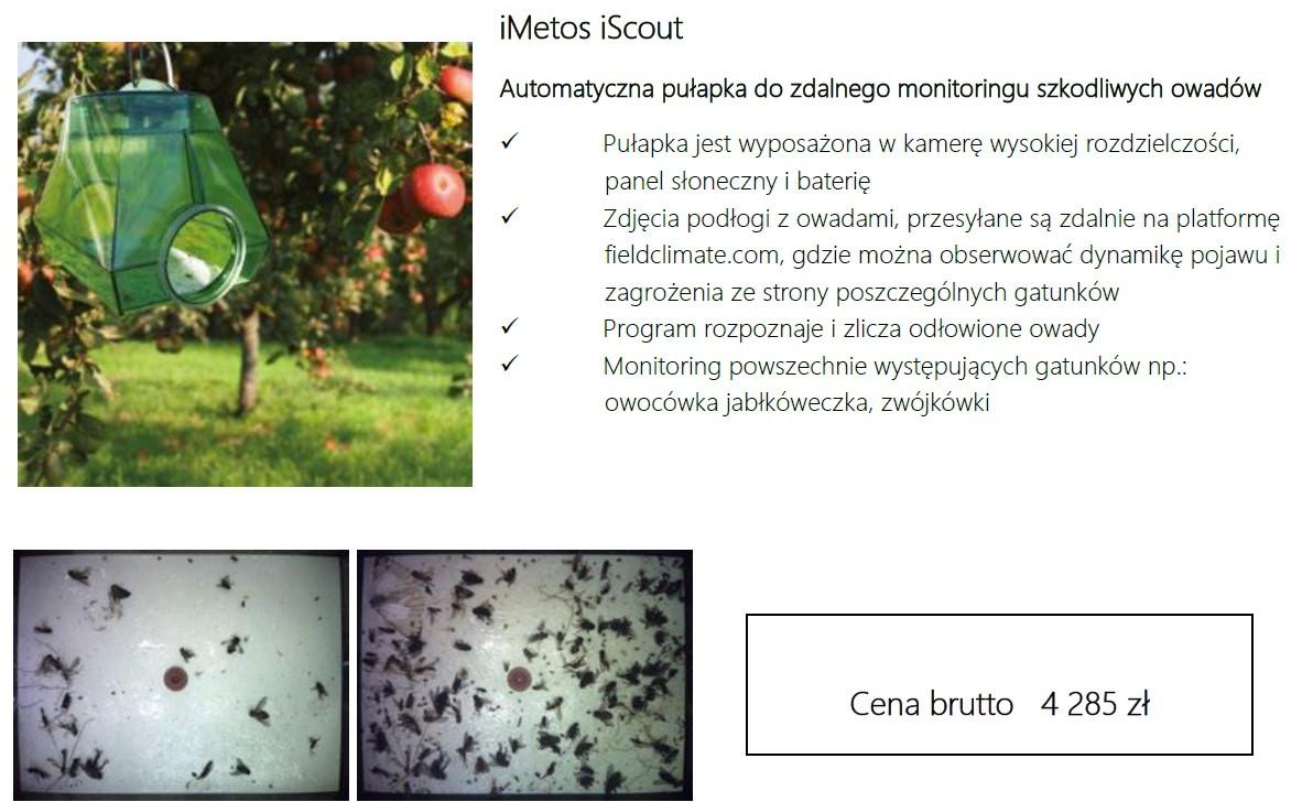 imetos iscout automatyczn puąłpka do zdalnego monitoringu szkodliwych owadów